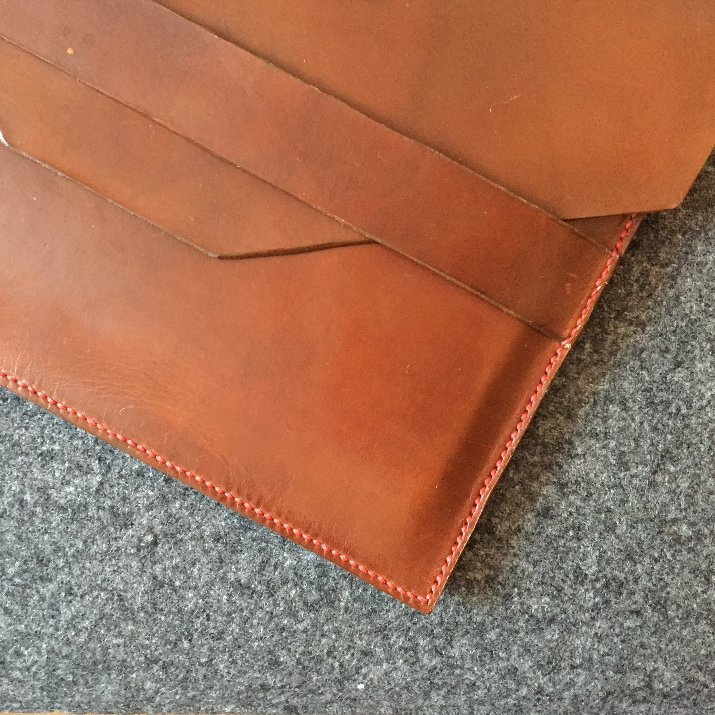 Handmade Leather iPad sleeve